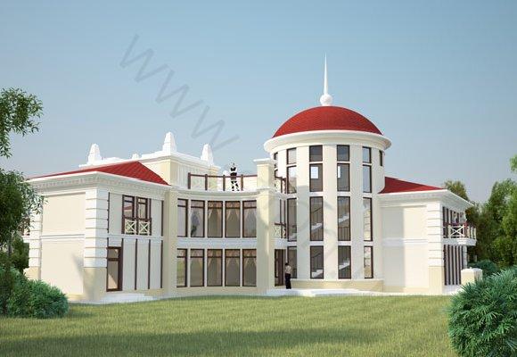 Визуализация загородного дома в г. Таруса, вид 1