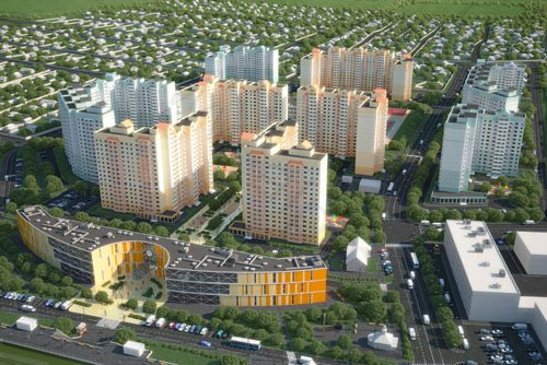 Planning project district Tsentralni, vizualization №1
