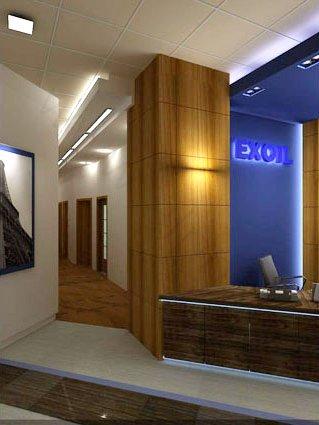 Визуализация интерьера офиса EXOIL на ул. Шаболовке, вид 1