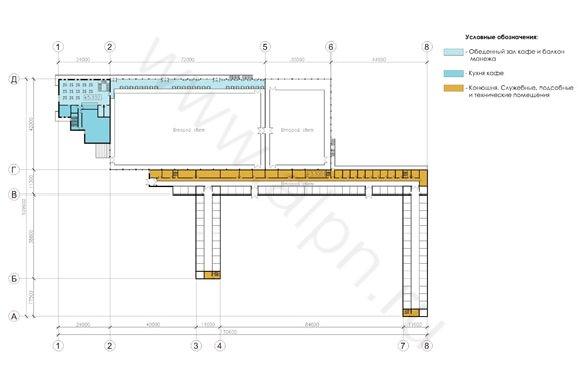 План конноспортивного комплекса на отметке +5,100