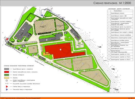Генеральный план КФХ КСК Пегас, 2-я очередь строительства, Вариант 2