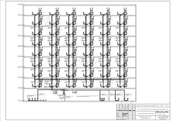 Раздел ВК.  Принципиальная схема водоснабжения гостиничного комплекса Inside Hotel.