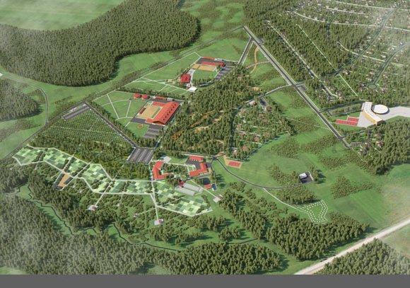 Визуализация территории спортивно-досугового центра Малое Ушаково, вид 2