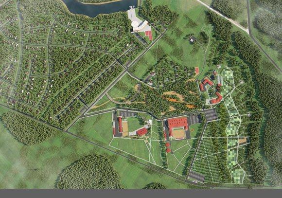 Визуализация территории спортивно-досугового центра Малое Ушаково, вид 3