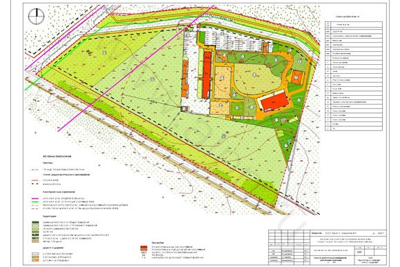 Архитектурный план организации территории