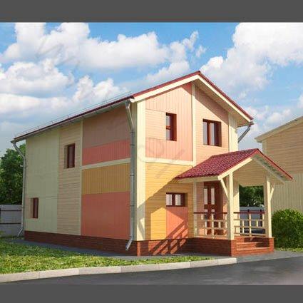 3D визуализация гостевого дома при КСК ЭквитоRUS
