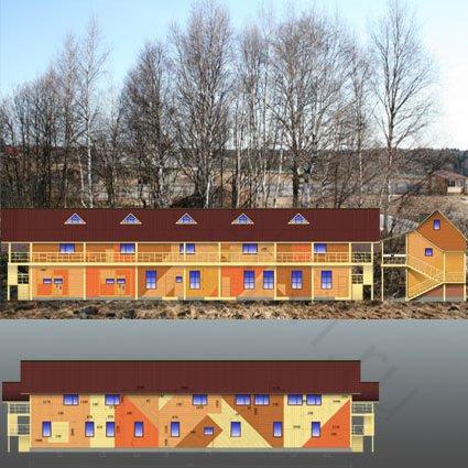 Цветовое решение фасадов гостинично-развлекательного центра в КСК